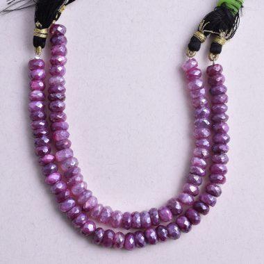 ruby moonstone silverite beads