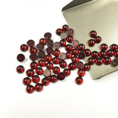 3mm red garnet smooth round