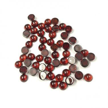 5mm red garnet smooth round