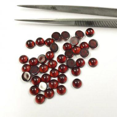 6mm red garnet smooth round