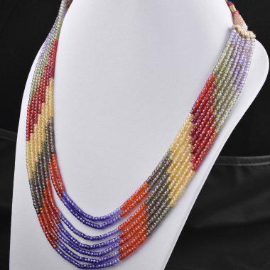 multi zircon beads necklace