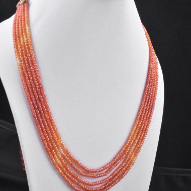 orange shaded zircon necklace