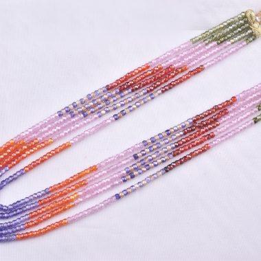 zircon rondelle beads necklace