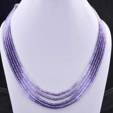 blue shaded zircon necklace