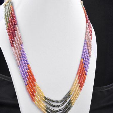 genuine multi zircon necklace