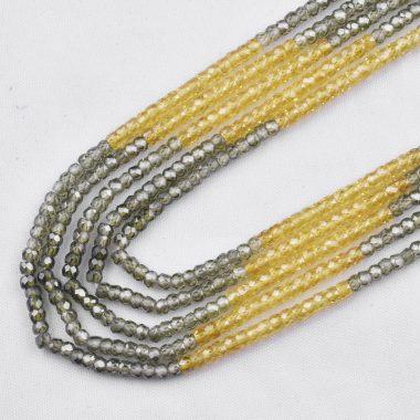 yellow green zircon necklace