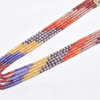 zircon faceted beads necklace