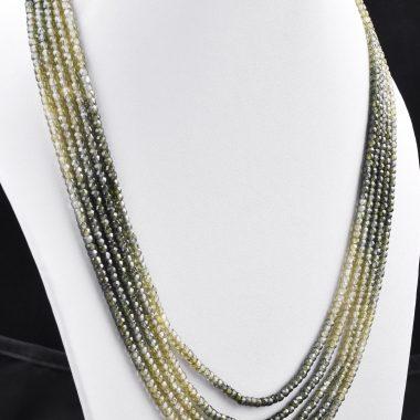 green shaded zircon necklace
