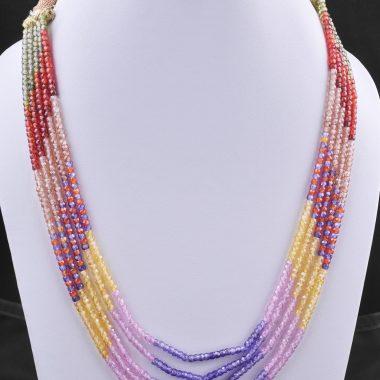 multi zircon gemstone necklace