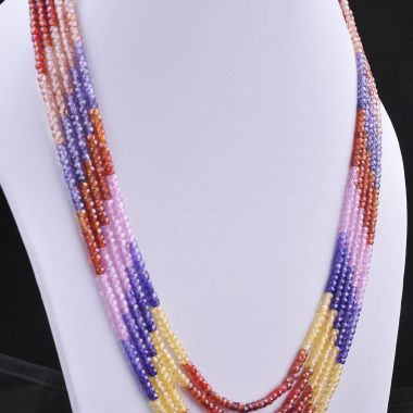 multi zircon rondelle necklace