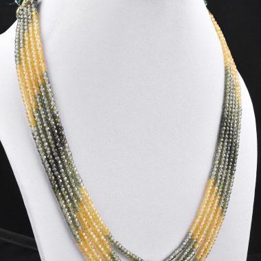 green yellow zircon necklace