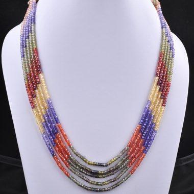 cubic zircon beads necklace