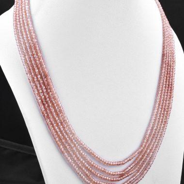brown zircon beads necklace