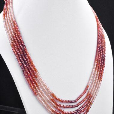 orange brown zircon necklace