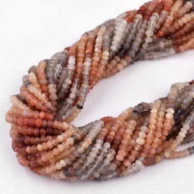 multi moonstone gemstone beads