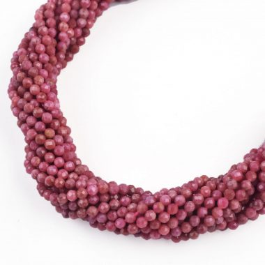 micro rhodochrosite faceted beads