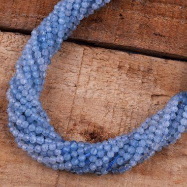 micro aquamarine faceted beads