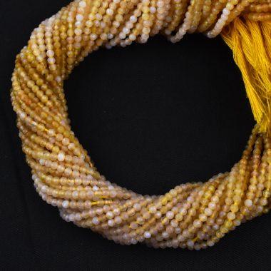 micro yellow opal beads