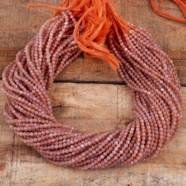 peach moonstone gemstone beads