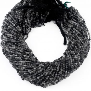 black rutile gemstone beads