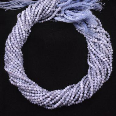 micro blue chalcedony beads
