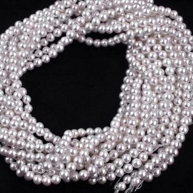 pearl round gemstone beads
