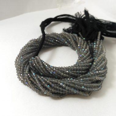 micro labradorite faceted beads