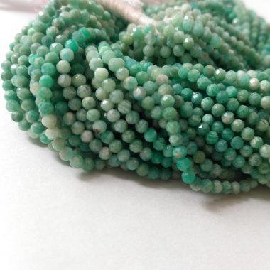 micro amazonite faceted beads