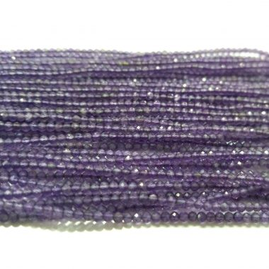 micro amethyst faceted beads