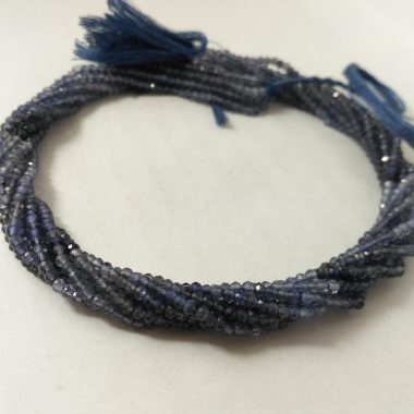 micro iolite faceted beads