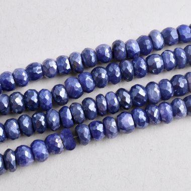 blue moonstone coated beads