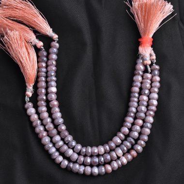 orange moonstone silverite beads