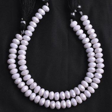 white moonstone silverite beads
