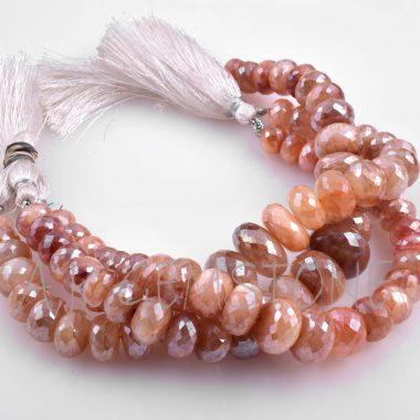 peach moonstone coated silverite