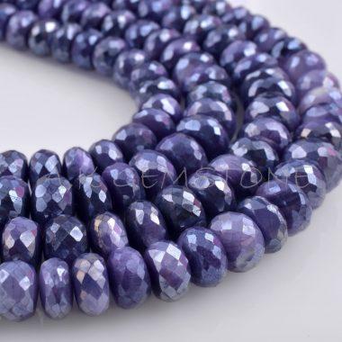 blue moonstone rondelle silverite