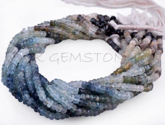 moss aquamarine gemstone beads