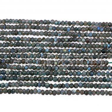 green labradorite faceted beads
