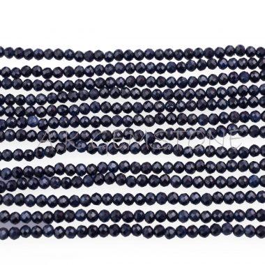 micro blue sapphire beads