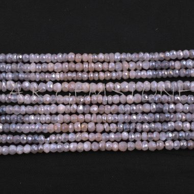peach gray moonstone beads
