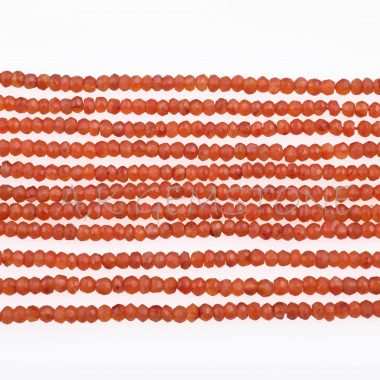 carnelian faceted gemstone beads