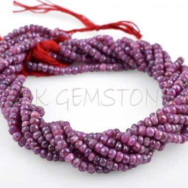 red corundum ruby beads