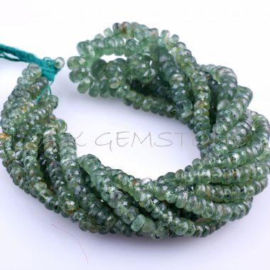 kyanite faceted gemstone beads