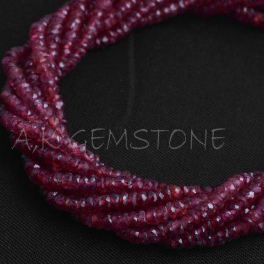red sapphire gemstone beads