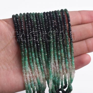 emerald shaded gemstone beads