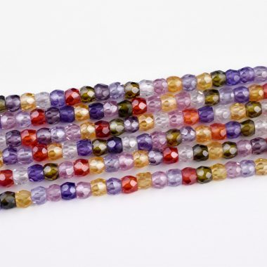 disco cubic zircon beads