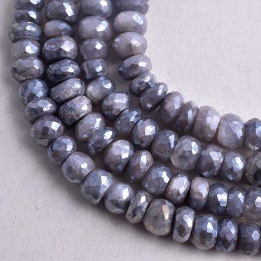 gray moonstone silverite beads