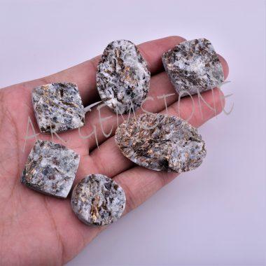 free size artero pyrite druzy cabochon