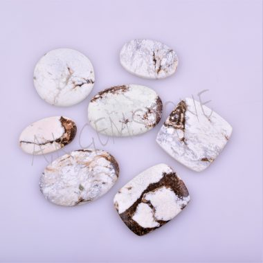 free size african white magnesite cabochon