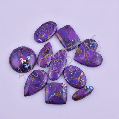 free size purple copper turquoise cabochon