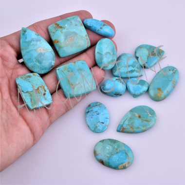 free size copper turquoise cabochon